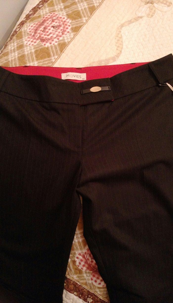 Женские брюки, чёрные, в полоску, размер 40. Новые.. Photo 2