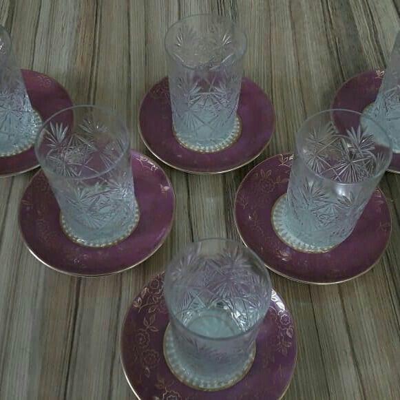 Чайные стаканы ссср, москва 6 штук. Photo 1