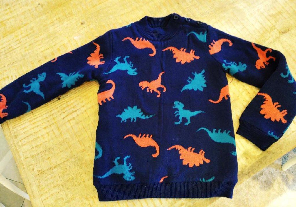 Dpam πουλόβερ χοντρό με Φλις επένδυση φορεμένο 1 φορά για παιδάκι 6-7 ετων