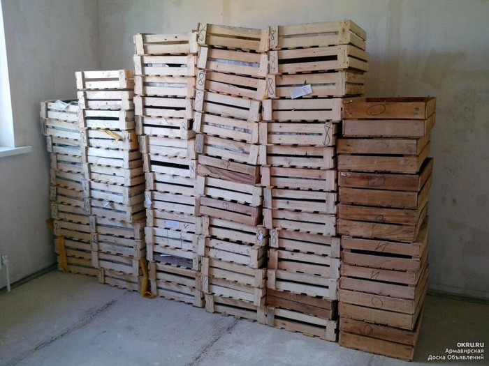 Деревянные ящики. Photo 0