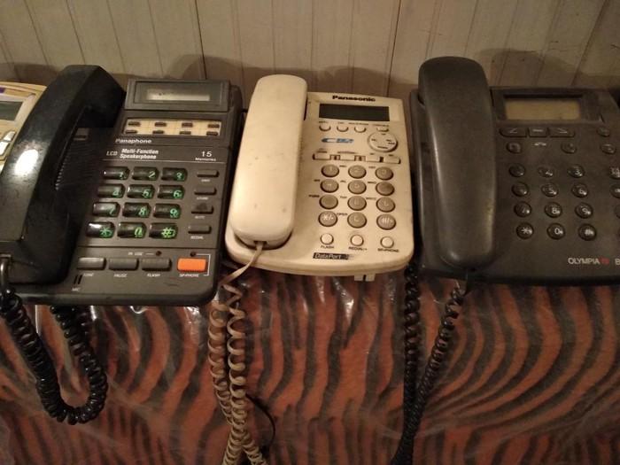 Телефонные аппараты для дома  рабочие б/у по 150 сом за каждый. Photo 1