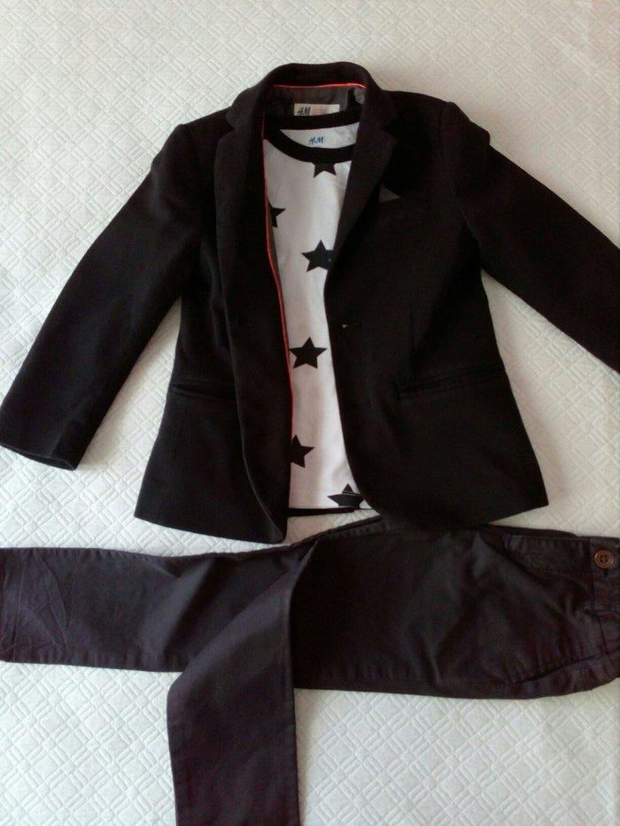 H&m  ΣΑΚΑΚΙ ΚΑΙ ΠΑΝΤΕΛΟΝΙ ΣΕ ΑΡΙΣΤΗ ΚΑΤΑΣΤΑΣΗ φορεμενα 2 φορες για αγορακι 3μιση _  4μιση ετων