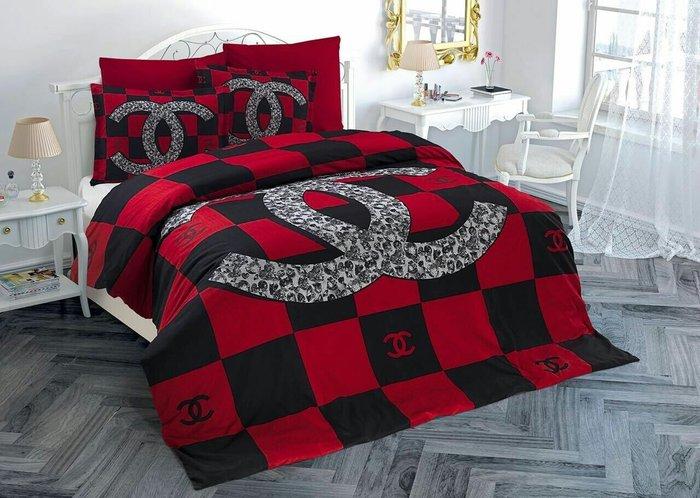 Красивое постельное белье CHANEL хорошего качества. Photo 0