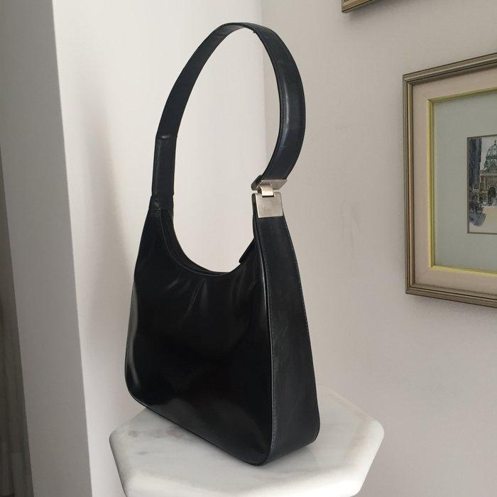 Καλογήρου μαύρη δερμάτινη τσάντα ώμου. Photo 2
