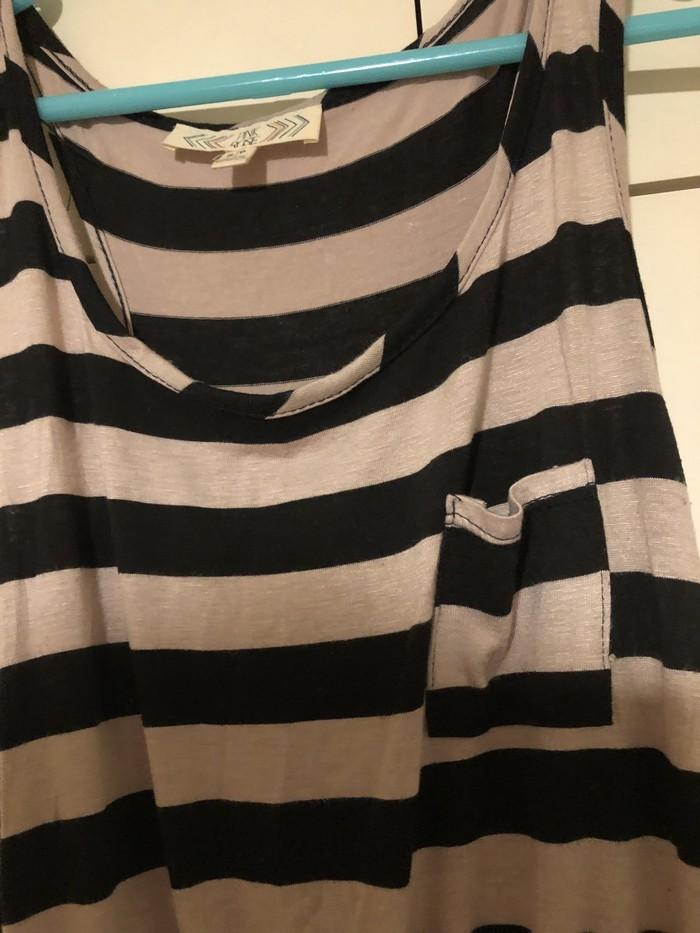 Kαφέ και μαύρο φόρεμα apo PINK ROSE size SMALL. Photo 1