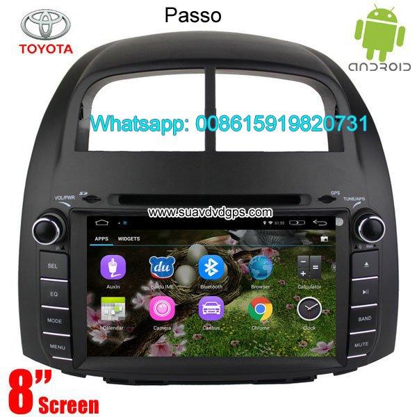 Toyota Passo Car audio radio update android GPS navigation camera