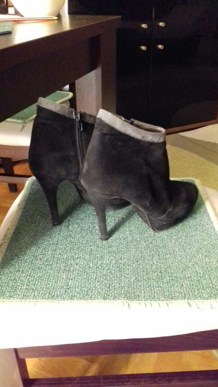 Elegantne duboke cipele na stiklu br.38,prevrnuta koza,flekice nove. Photo 2