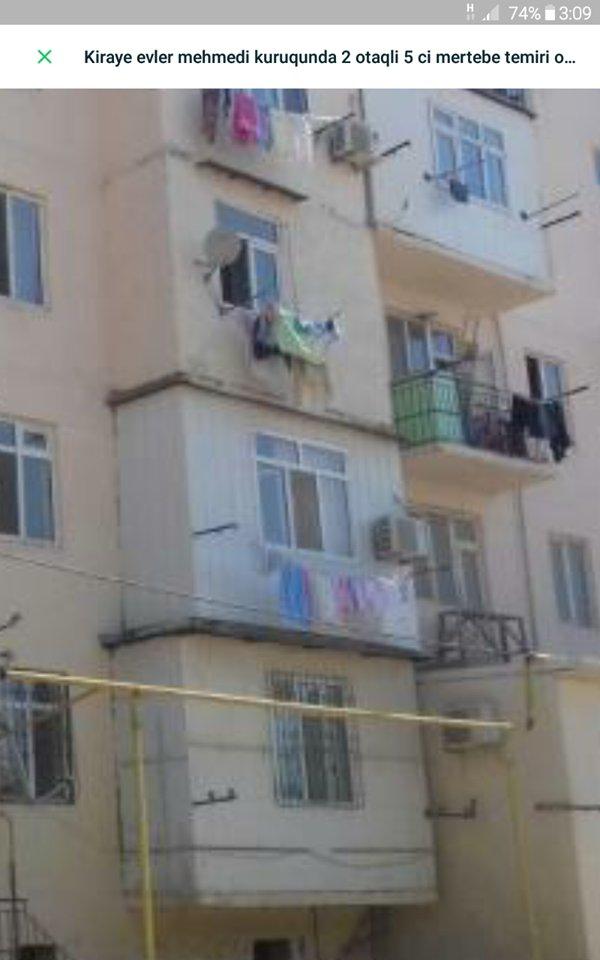 Bakı şəhərində Bina evi  mehemmedi  yolun kenarinda  40 kv  2 otaqli ev  4 cu mertebe