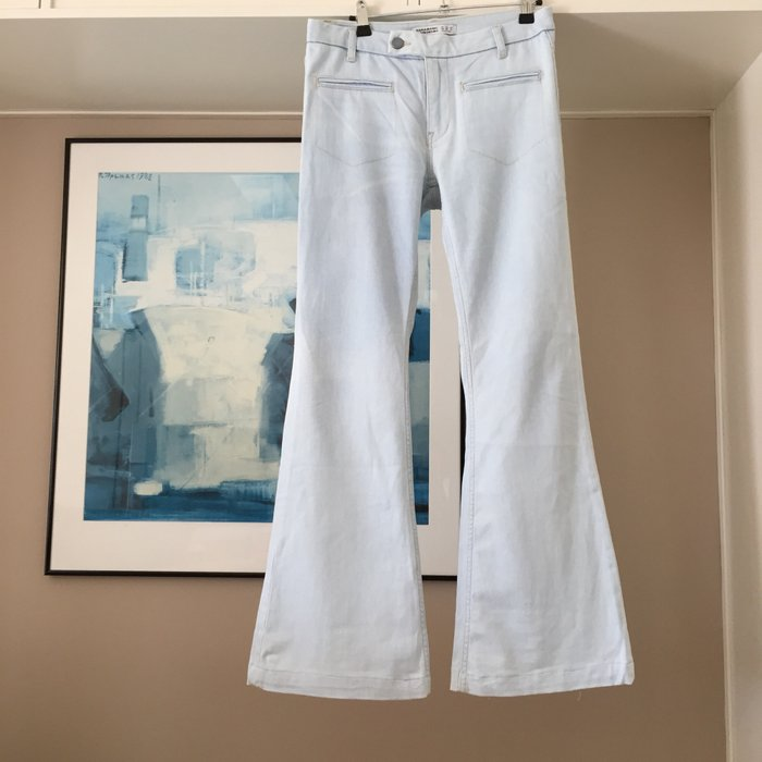 Zara ανοιχτό γαλάζιο jean καμπάνα.. Photo 5