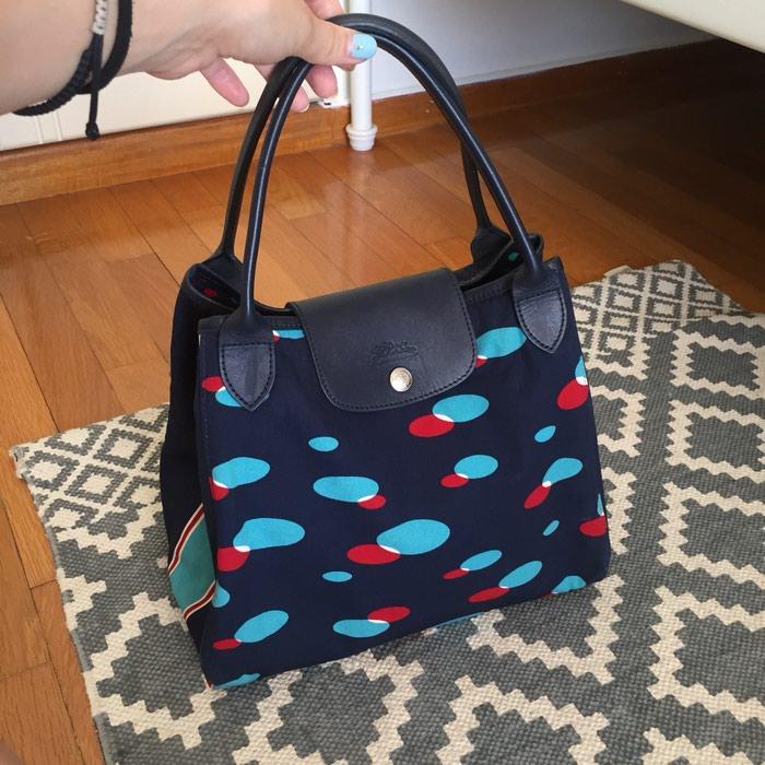 Longchamp canvas υφασμάτινη τσάντα. Σε σκούρο. Photo 7