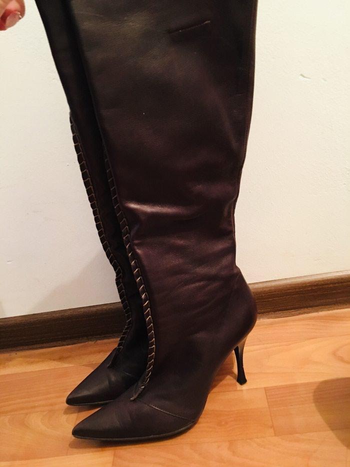 Итальянские деми сапоги кожаные 37 размер в хорошем состоянии. в Бишкек
