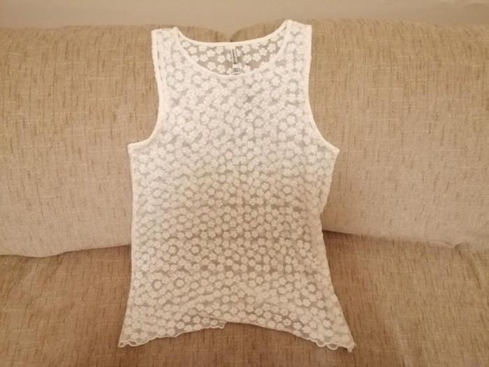 Μπλούζα λευκή με διαφάνεια, μεγέθους Medium. Άριστη