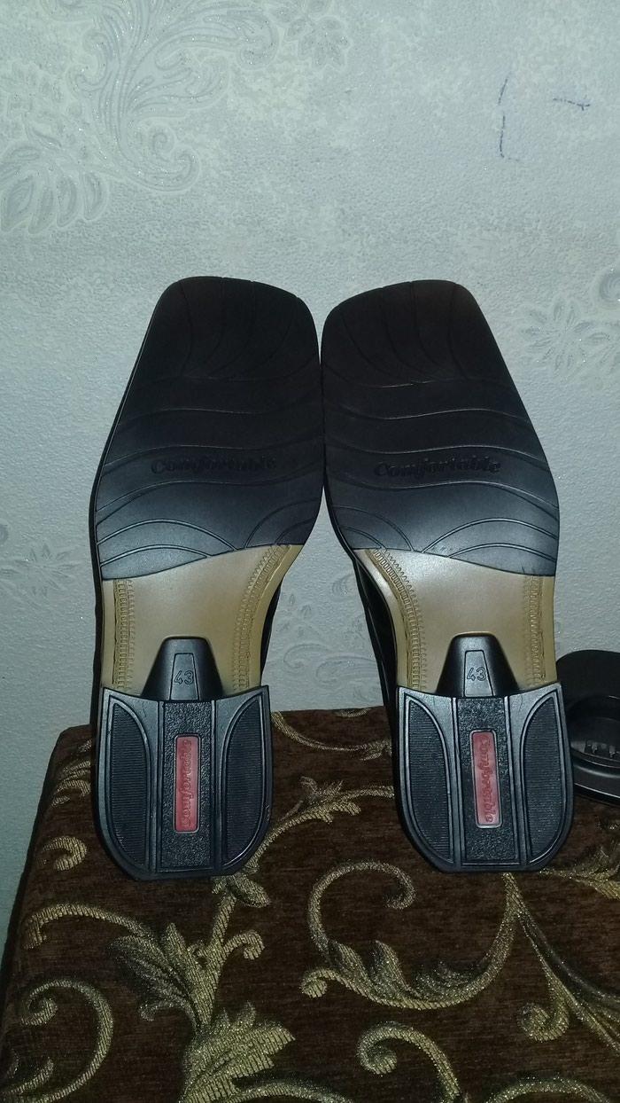 Кожанные туфли 43 размера. Photo 1