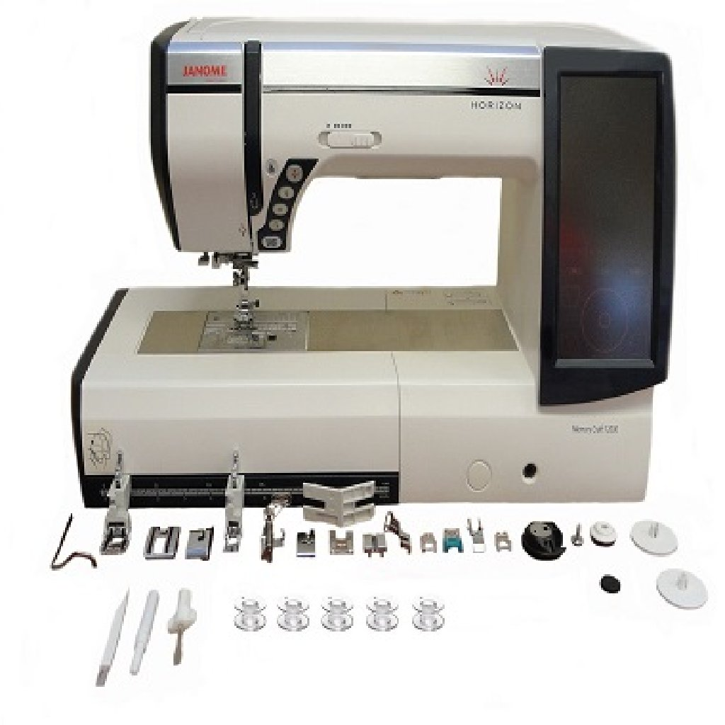 Janome Horizon Memory Craft 12000 Embroidery and Sewing Machine with Exclusive