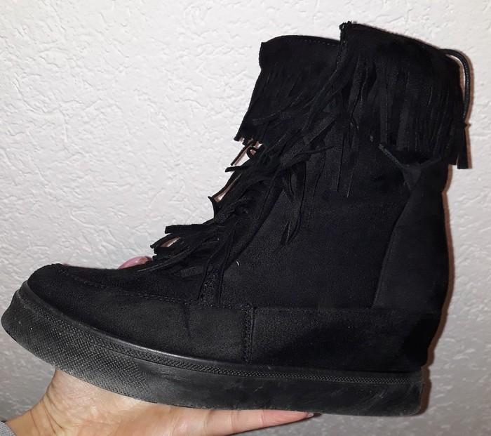 Patike/cipele sa skrivenom platformom..nošene 2 puta...broj 37. Photo 3
