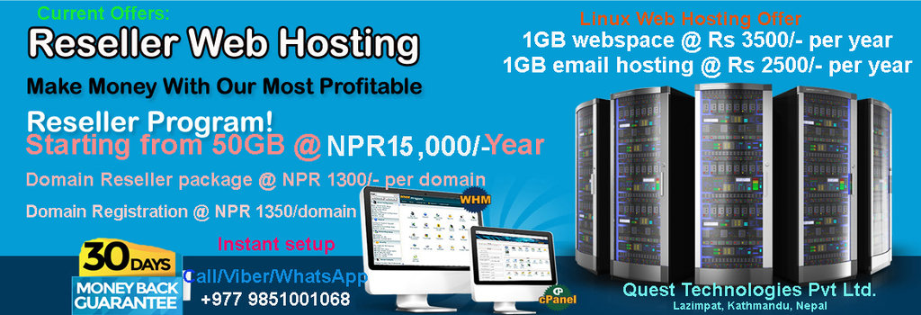 Web hosting Reseller package on sale !!!