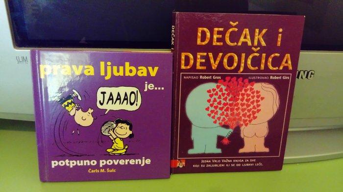 Ljubavne i saljive knjigice sa ilustracijama i u tvrdom povezu. - Beograd