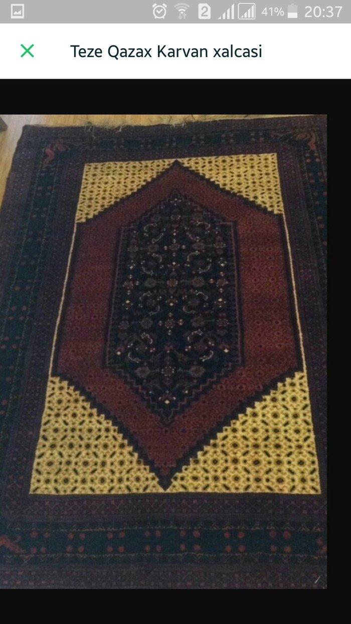 Sumqayıt şəhərində Qazax Karvansara xalcasi,tezedir hemise divardan asili veziyyetde olub