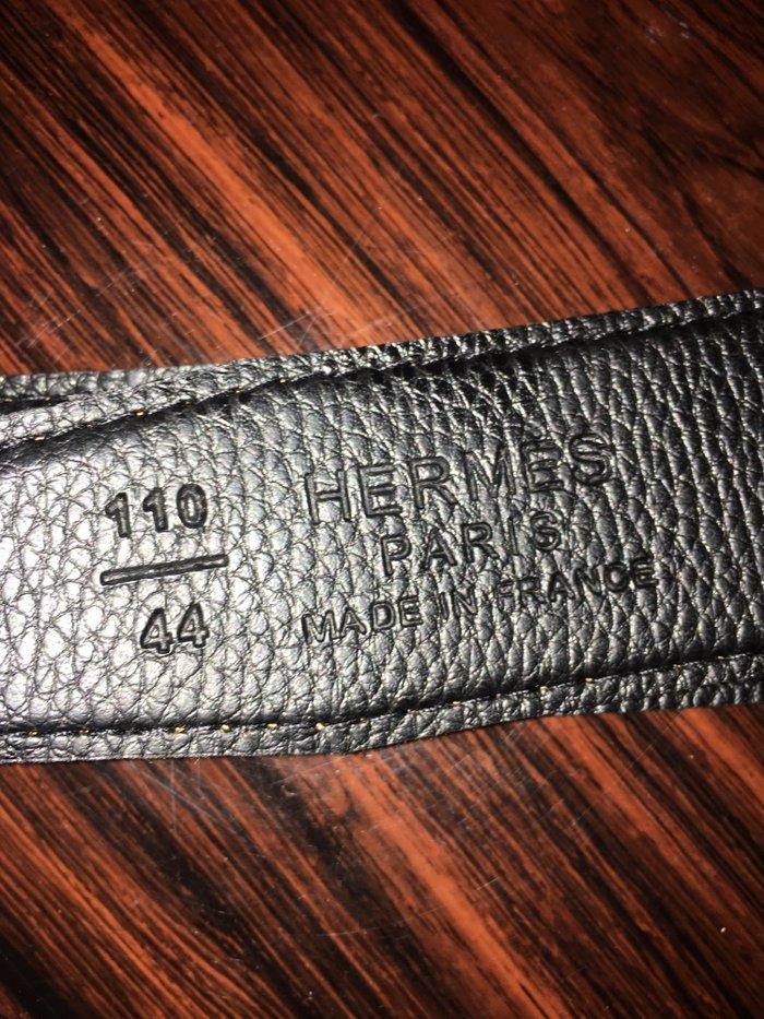 Hermes ζωνη 100% δερμα διπλης οψης μαυρο. Photo 3