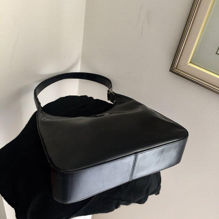 Καλογήρου μαύρη δερμάτινη τσάντα ώμου. Photo 8