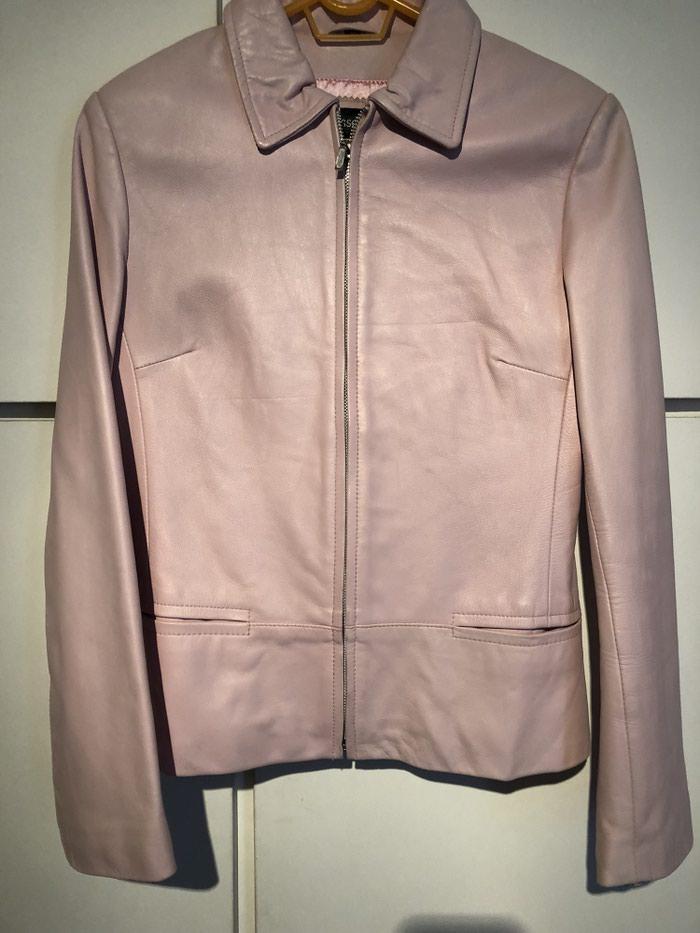 Δερματινο τζακετ 100% leather σε ροζ χρωμα  Medium. Photo 0