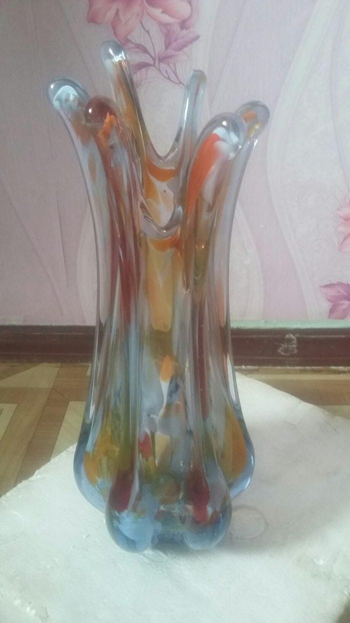 Красивая богемская ваза для цветов. в Душанбе