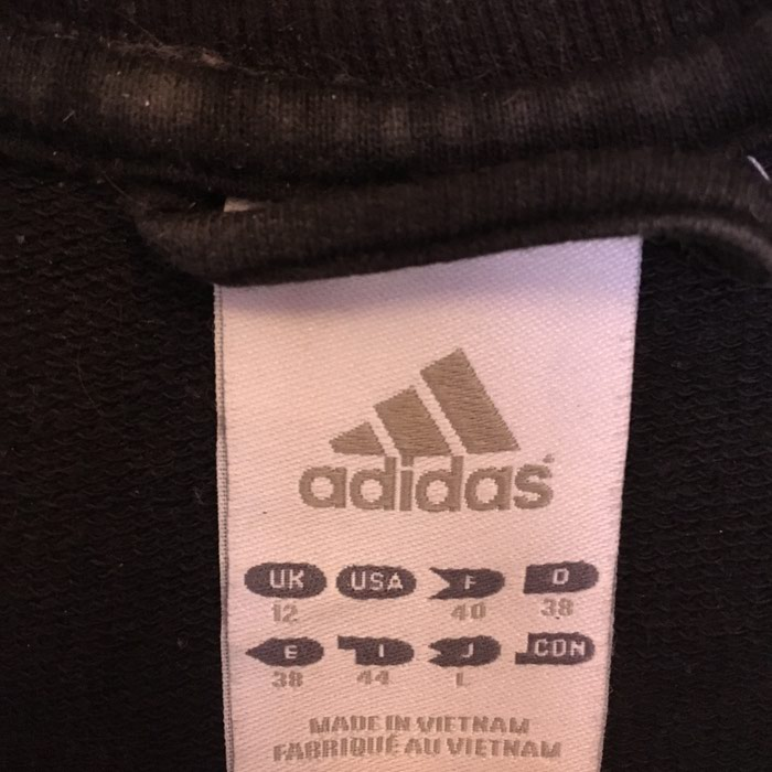 Adidas black jacket size EU38 in perfect condition. Photo 1