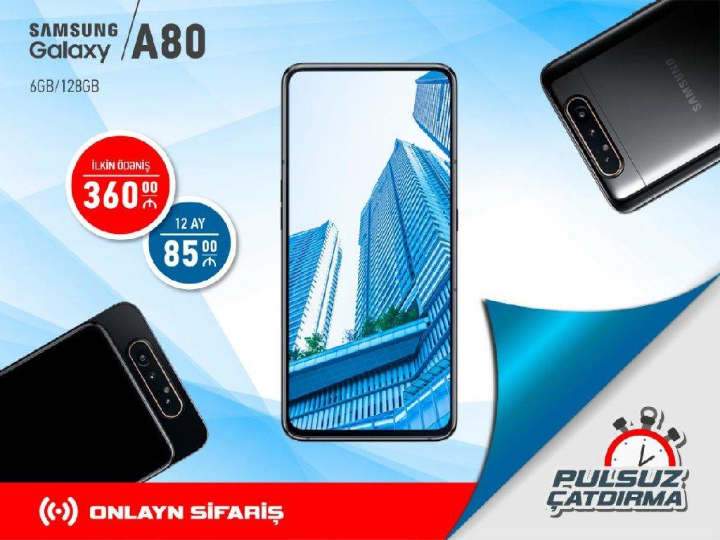 Yeni Samsung A80 128 GB Göy