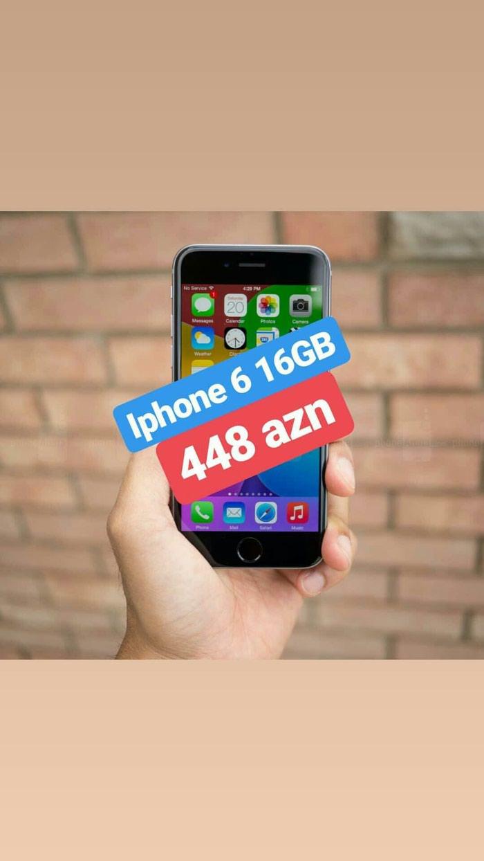 Bakı şəhərində Iphone 6 16 gb.Telefonlarımız yenidir ve 1 il zemanet veririk.Butun