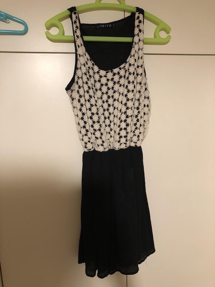 Όμορφο φόρεμα μαύρο και κρέμα από LIMITE size L!!. Photo 0