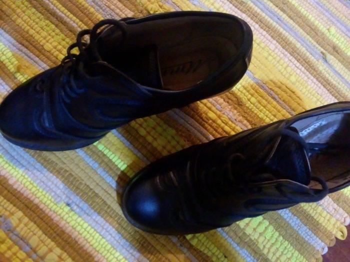 Kozne cipele.crne.vel 37.obuvene par puta.udobne. Photo 4