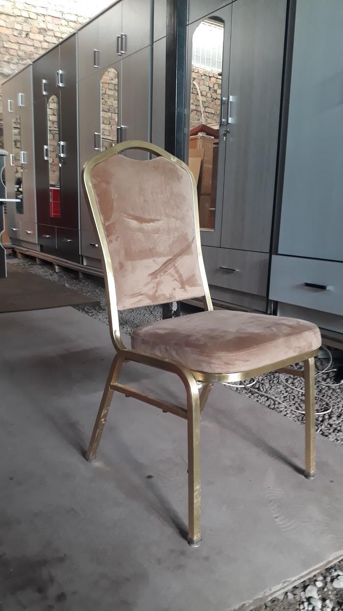 Железные стуля с мяхкий спинками и сидушками 16шт сена 1800 . Photo 2