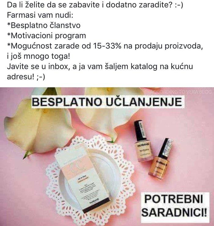 Prodaja farmasi -prirodne kozmetike. Ako želite dodatnu zaradu javite - Novi Sad