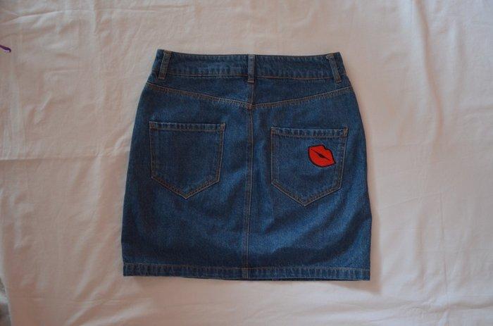 Μίνι φούστα τζιν νούμερο 34 (small). Photo 1