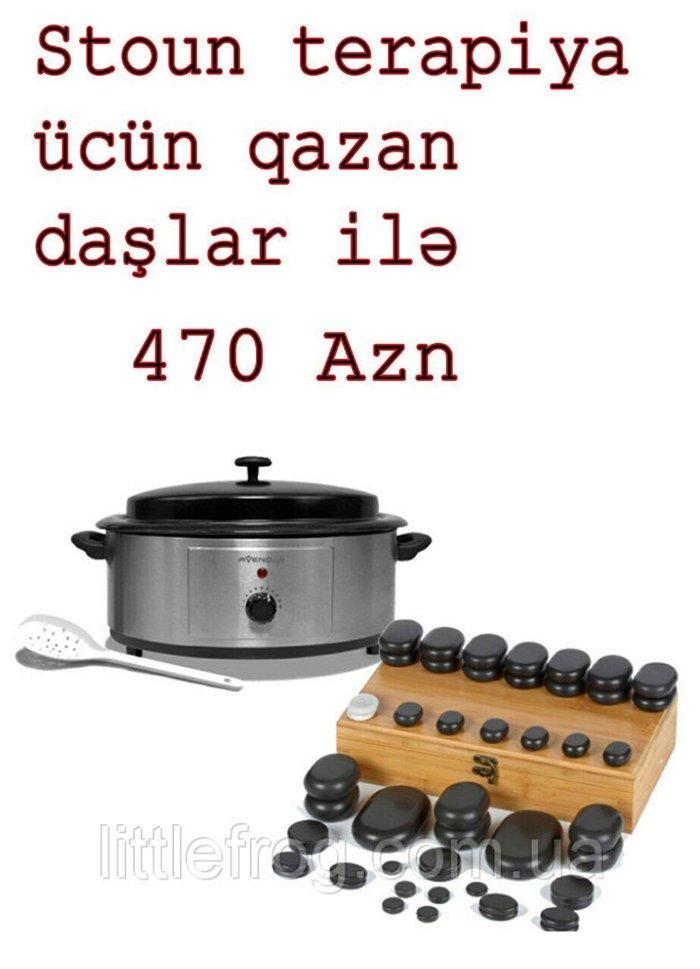 Sumqayıt şəhərində Stoun terapiya üçün qazan daşlar iıə