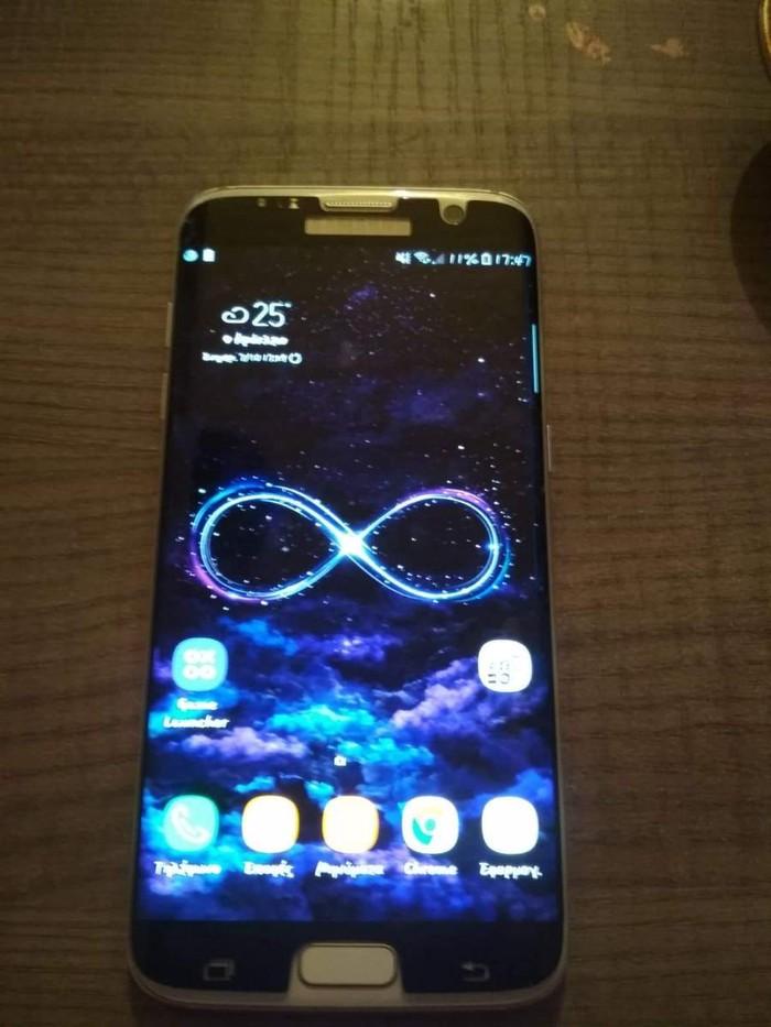Μεταχειρισμένο Samsung Galaxy S7 Edge 32 GB άσπρο. Photo 0