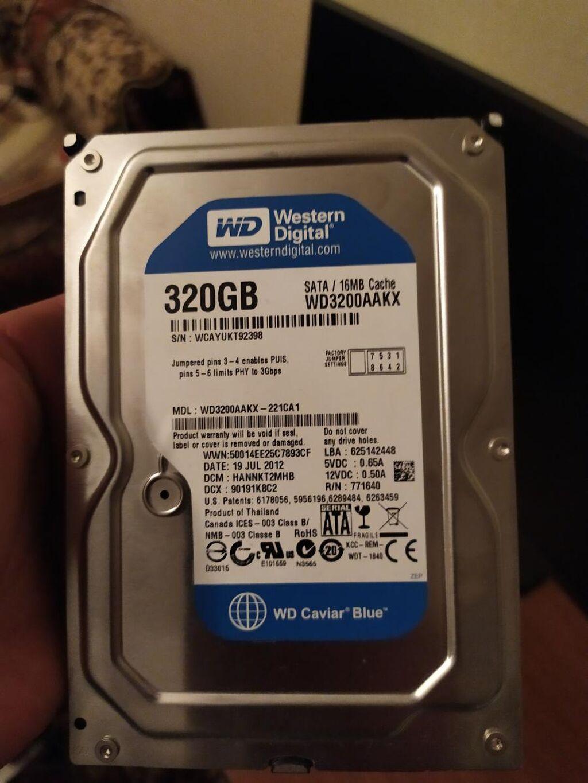 Western Digital HDD 320qb teze