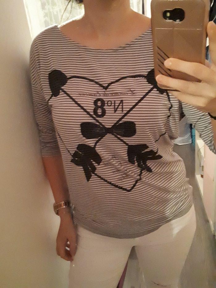 ec84a53a23dc Μπλουζα large φαρδια ριχτη γραμμη! for 5 EUR in Edessa  Women s ...