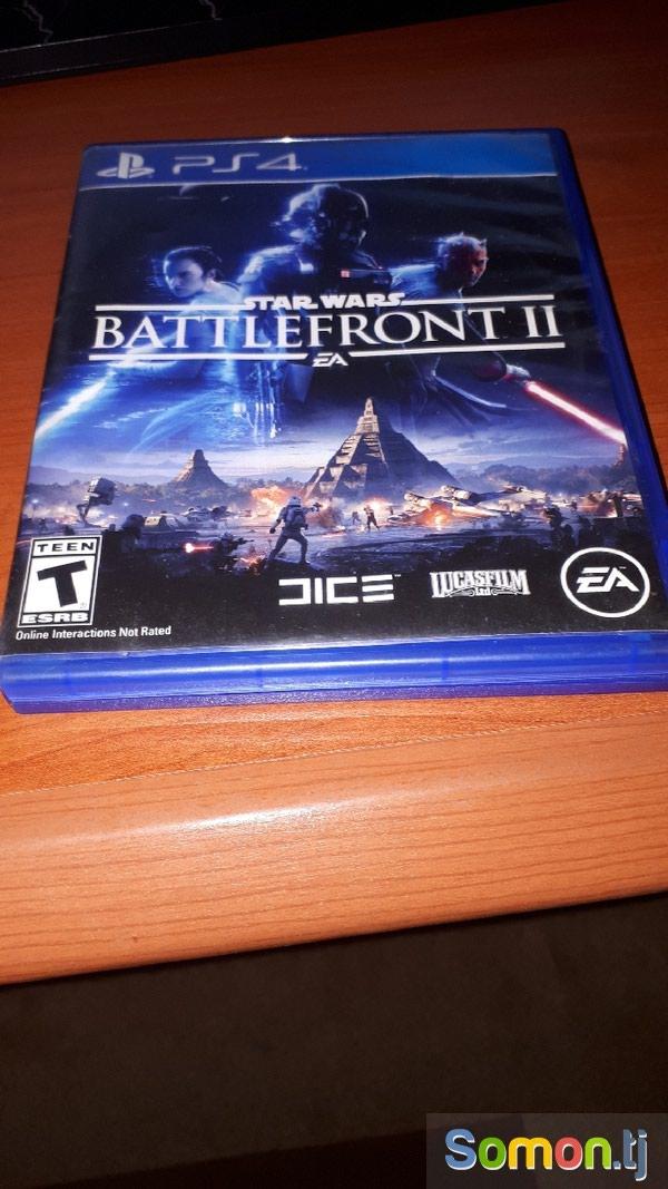 Игра Stars wars Battlefront 2 для PS4 без царапин диск