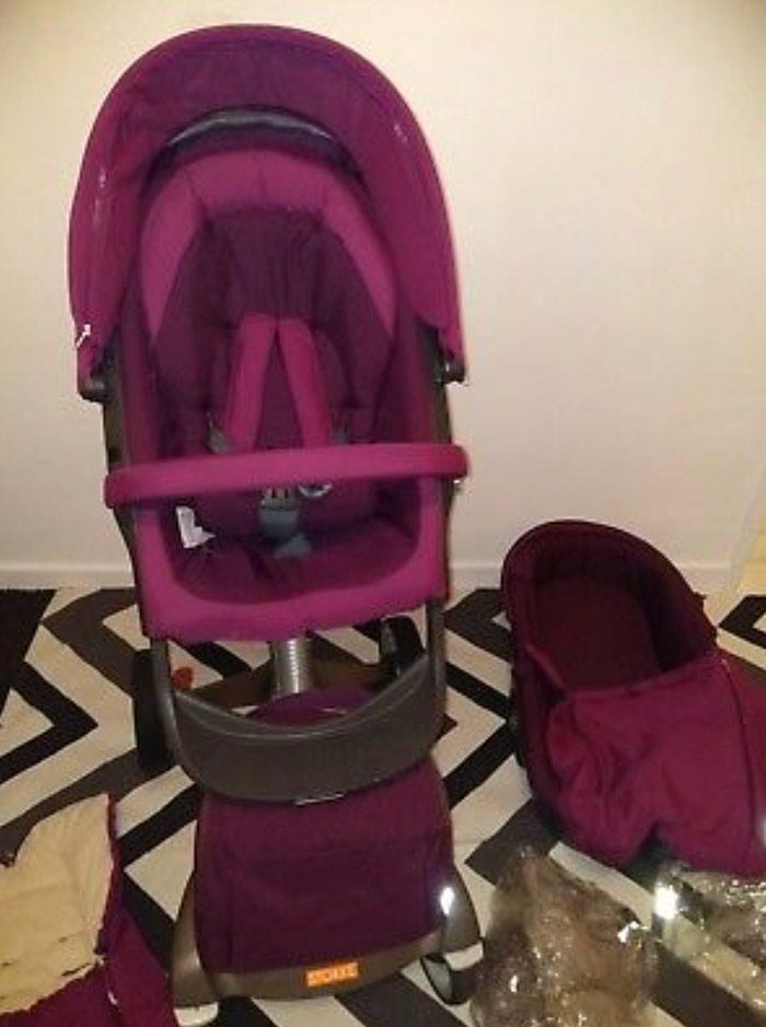 Stokke Xplory V4 Purple With Carry Cot , Seat Unit, Footmuff. Photo 2