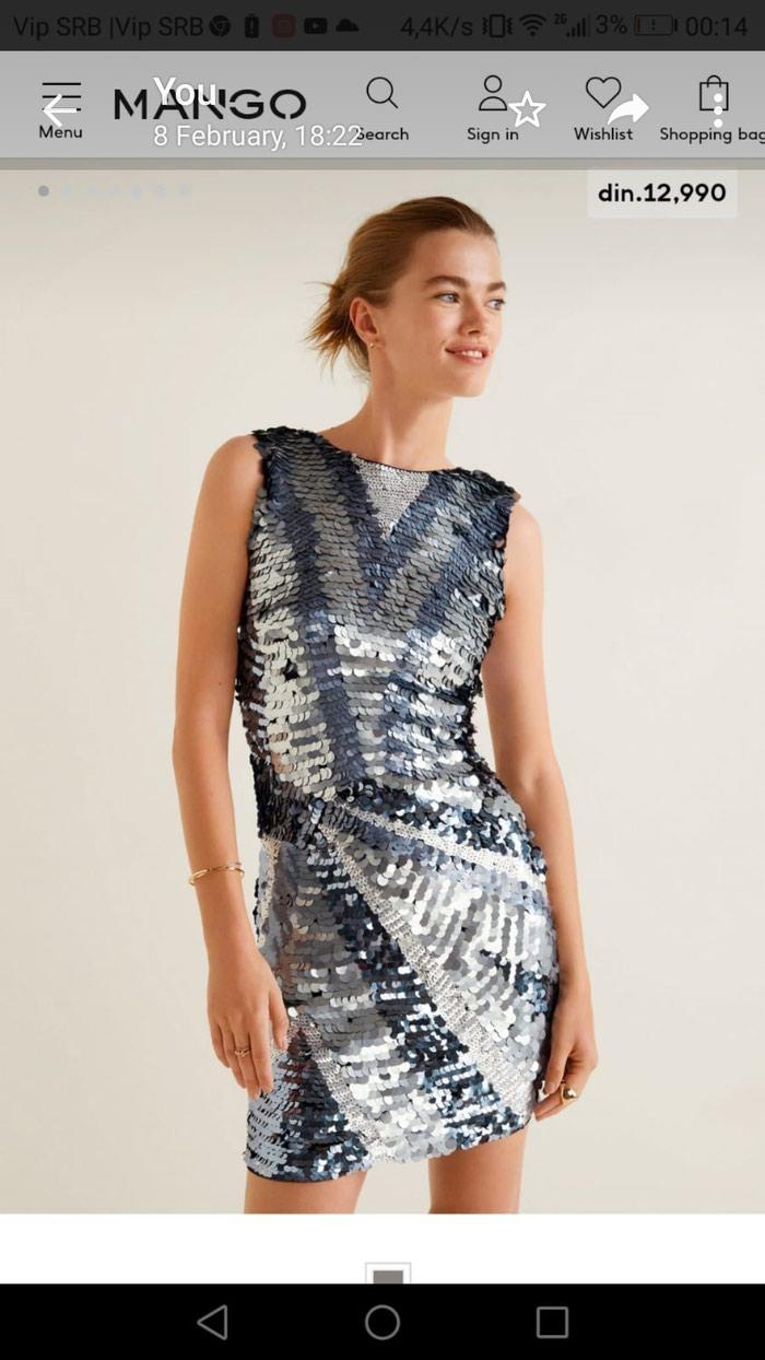 Mango haljina,jednom obucena,m velicina, potpuno nova . Photo 0