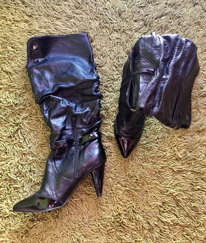 Miss sixty kozne, lakovane cizme, nosene samo jednom, kao nove