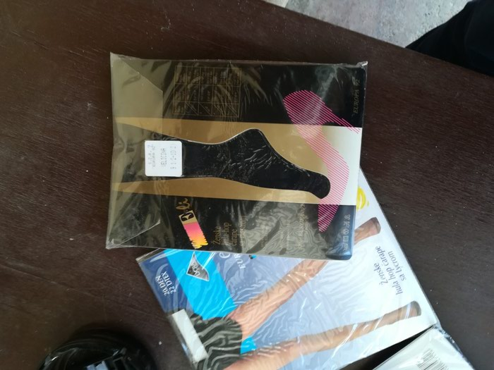 Zenske HulaHop čarape sa likrom marke Eli, nove neotpakovane, i obicne ali i sa mustrom