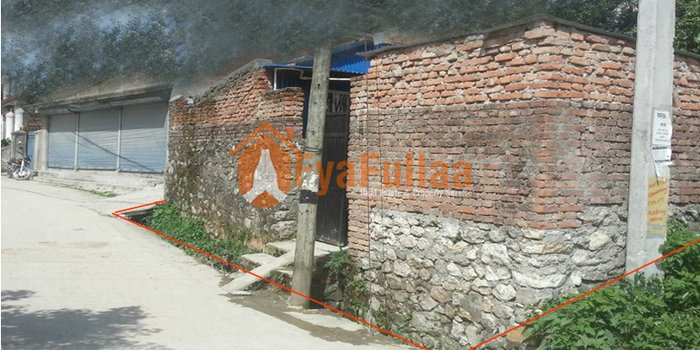 Land having area 0-5-2-1, facing west, 20 feet road is on sale at in Kathmandu