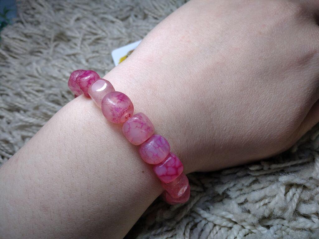 Розовый агатновый браслет, ликвидация товара. Натуральные камни: Розовый агатновый браслет, ликвидация товара. Натуральные камни