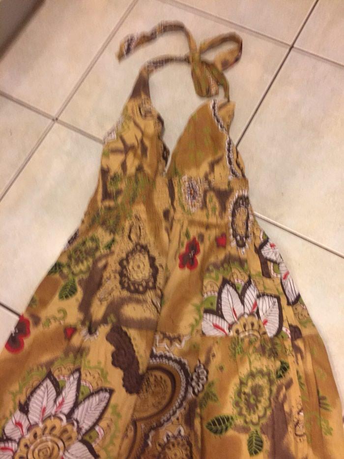 Boho maxi ββακερο φορεμα με ανοιχτη πλατη . Αφορετο . Νο small . Photo 2