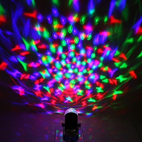 RGB Disco Light - 3 Watt, Sound Active, Rotating Light, Large And Stunning Visual Effects