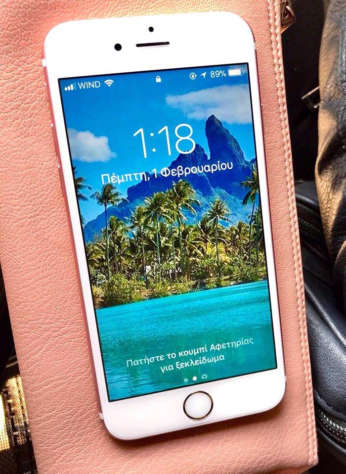 Iphone 6s rose gold αριστη κατασταση αγρατζουνιστο παντα με θηκη και τ σε Περιφερειακή ενότητα Θεσσαλονίκης