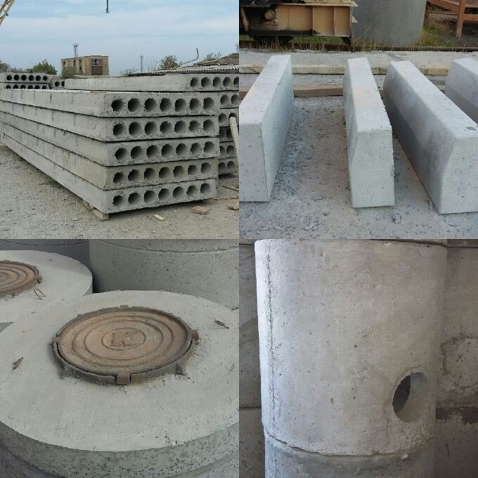 Sumqayıt şəhərində Bizim zavodda beton paneller,beton pilteler,kanizasiya xetlerinin