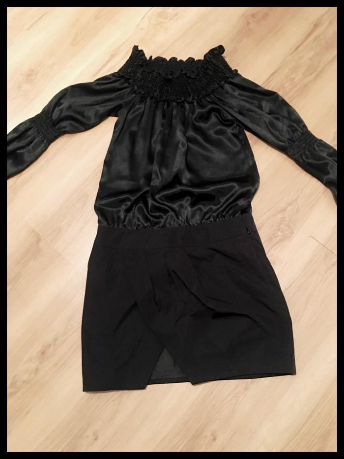 Mischalis φορεμα μαυρο ανοιχτο στους ωμους. Photo 0